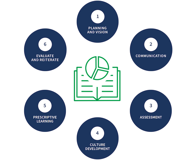 6 Step Approach to Data Literacy Adoption""