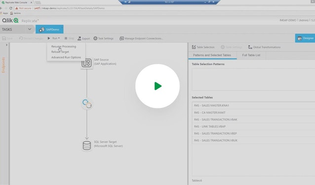 Click on this image to watch the Qlik Replicate for SAP video.